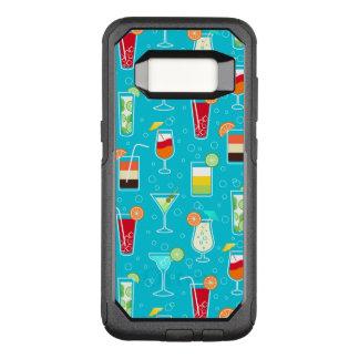 Coque Samsung Galaxy S8 Par OtterBox Commuter Motif de cocktail sur l'arrière - plan turquoise