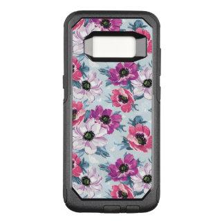 Coque Samsung Galaxy S8 Par OtterBox Commuter Motif de fleurs de couleur d'élégance sur le bleu