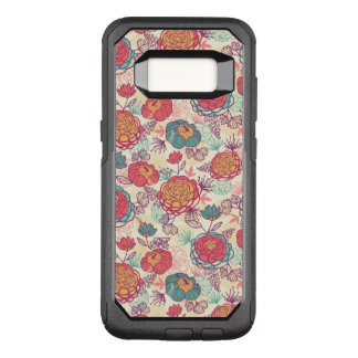 Coque Samsung Galaxy S8 Par OtterBox Commuter Motif de fleurs et de feuille de pivoine