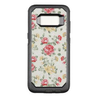 Coque Samsung Galaxy S8 Par OtterBox Commuter Motif de papier peint d'élégance des roses roses