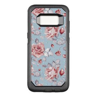 Coque Samsung Galaxy S8 Par OtterBox Commuter Motif de papier peint d'élégance des roses roses 2