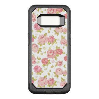 Coque Samsung Galaxy S8 Par OtterBox Commuter Motif de papier peint d'élégance des roses roses 3