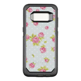 Coque Samsung Galaxy S8 Par OtterBox Commuter Motif de papier peint d'élégance des roses roses 4