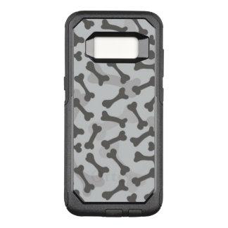 Coque Samsung Galaxy S8 Par OtterBox Commuter Motif de texture d'os à fond gris