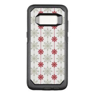 Coque Samsung Galaxy S8 Par OtterBox Commuter Motif élégant rouge et blanc de Noël de flocon de