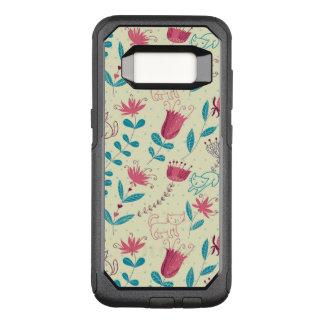 Coque Samsung Galaxy S8 Par OtterBox Commuter Motif floral avec des chats de bande dessinée