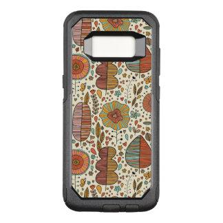 Coque Samsung Galaxy S8 Par OtterBox Commuter Motif floral d'été fait de feuille