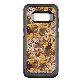 Coque Samsung Galaxy S8 Par OtterBox Commuter Motif floral tropical avec le tigre