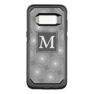 Coque Samsung Galaxy S8 Par OtterBox Commuter Motif gris de cercles de monogramme
