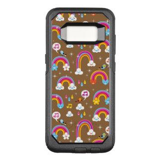 Coque Samsung Galaxy S8 Par OtterBox Commuter motif mignon d'arcs-en-ciel
