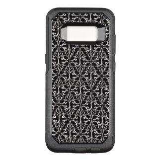 Coque Samsung Galaxy S8 Par OtterBox Commuter Motif mis en rouleau chic blanc noir de damassé