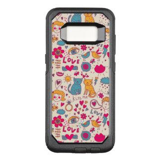 Coque Samsung Galaxy S8 Par OtterBox Commuter Motif romantique coloré
