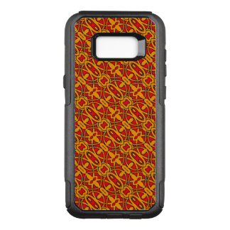 Coque Samsung Galaxy S8+ Par OtterBox Commuter Motif tiré par la main orange et rouge