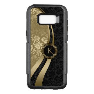 Coque Samsung Galaxy S8+ Par OtterBox Commuter Noir de dessin géométrique et damassés d'or