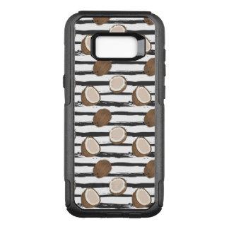Coque Samsung Galaxy S8+ Par OtterBox Commuter Noix de coco sur le motif grunge de rayures