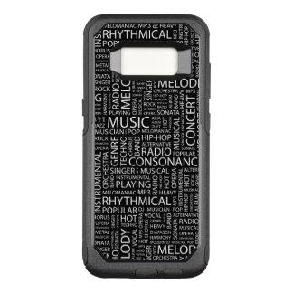 Coque Samsung Galaxy S8 Par OtterBox Commuter Nuage de mot de motif de MUSIQUE