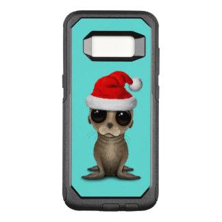 Coque Samsung Galaxy S8 Par OtterBox Commuter Otarie de bébé utilisant un casquette de Père Noël