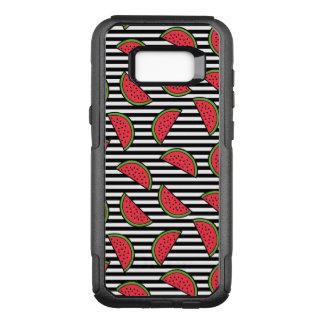 Coque Samsung Galaxy S8+ Par OtterBox Commuter Pastèque sur le motif noir et blanc de rayures