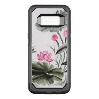 Coque Samsung Galaxy S8 Par OtterBox Commuter Peinture d'aquarelle de la fleur de Lotus 2