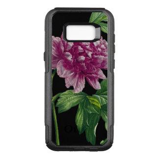 Coque Samsung Galaxy S8+ Par OtterBox Commuter Pivoine rose sur chic noir