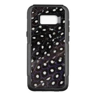 Coque Samsung Galaxy S8+ Par OtterBox Commuter Plumes de Guineafowl repérées par noir