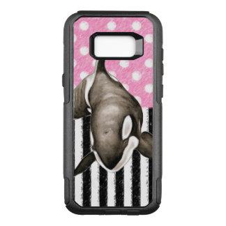 Coque Samsung Galaxy S8+ Par OtterBox Commuter Point de polka de rose de baleine d'orque