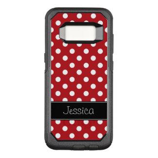 Coque Samsung Galaxy S8 Par OtterBox Commuter Pois rouge et blanc personnalisé