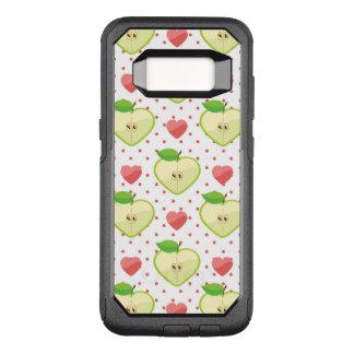 Coque Samsung Galaxy S8 Par OtterBox Commuter Pommes de coeur avec le pois et les coeurs roses