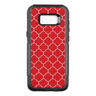 Coque Samsung Galaxy S8+ Par OtterBox Commuter Quatrefoil rouge et blanc