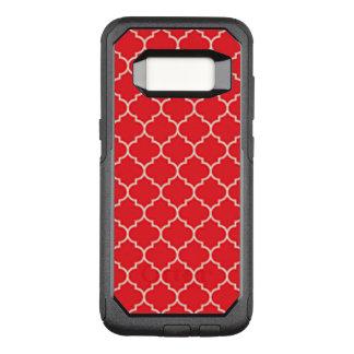 Coque Samsung Galaxy S8 Par OtterBox Commuter Quatrefoil rouge et blanc