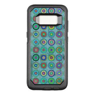 Coque Samsung Galaxy S8 Par OtterBox Commuter Rétro motif bleu sale de cercle