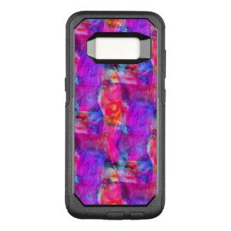 Coque Samsung Galaxy S8 Par OtterBox Commuter Rose d'art, bleu, arrière - plan rouge de texture