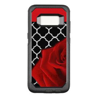 Coque Samsung Galaxy S8 Par OtterBox Commuter Rose rouge et motif de Quatrefoil