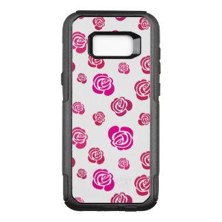 Coque Samsung Galaxy S8+ Par OtterBox Commuter Roses roses et magenta rouges dans un motif fleuri