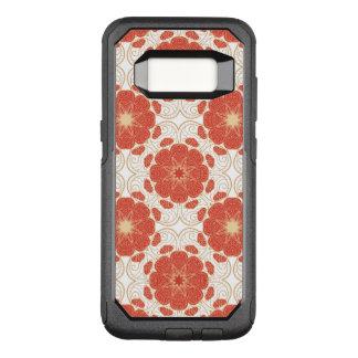 Coque Samsung Galaxy S8 Par OtterBox Commuter Rouge et motif floral de dentelle d'or