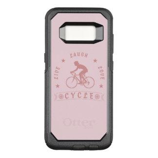 Coque Samsung Galaxy S8 Par OtterBox Commuter Texte de Live Laugh Love Cycle de Madame (rose)