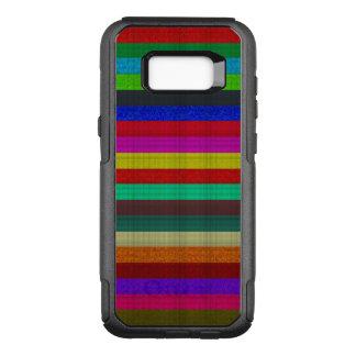 Coque Samsung Galaxy S8+ Par OtterBox Commuter Texture colorée de tuile de rayures
