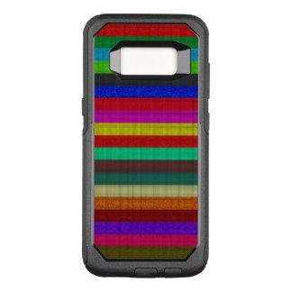 Coque Samsung Galaxy S8 Par OtterBox Commuter Texture colorée de tuile de rayures