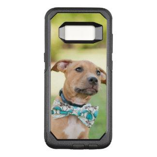Coque Samsung Galaxy S8 Par OtterBox Commuter Un chiot de Brown porte une cravatte colorée d'arc