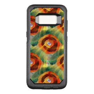 Coque Samsung Galaxy S8 Par OtterBox Commuter vert de l'eau d'abrégé sur texture d'art, orange,