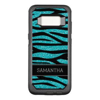 Coque Samsung Galaxy S8 Par OtterBox Commuter Zèbre bleu turquoise de parties scintillantes de
