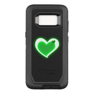 Coque Samsung Galaxy S8 Par OtterBox Defender beaux coeurs de feu vert d'amour