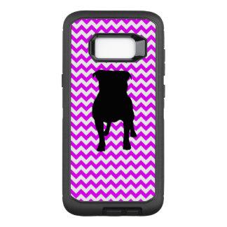 Coque Samsung Galaxy S8+ Par OtterBox Defender Chevron parfaitement rose avec la silhouette de