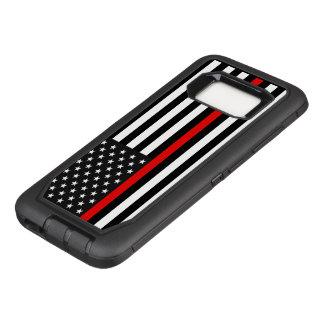 Coque Samsung Galaxy S8 Par OtterBox Defender Ligne rouge mince drapeau américain