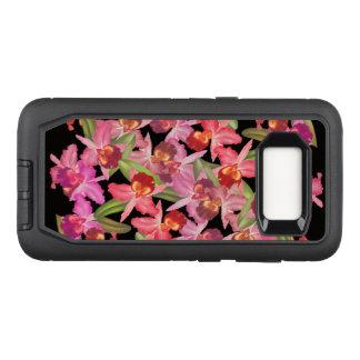 Coque Samsung Galaxy S8 Par OtterBox Defender L'orchidée fleurit la caisse de la galaxie S8 de