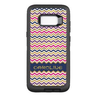 Coque Samsung Galaxy S8+ Par OtterBox Defender Motif à la mode de Chevron avec le nom personnel