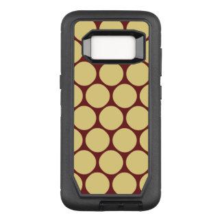 Coque Samsung Galaxy S8 Par OtterBox Defender Motif de point jaune et rouge élégant de polka
