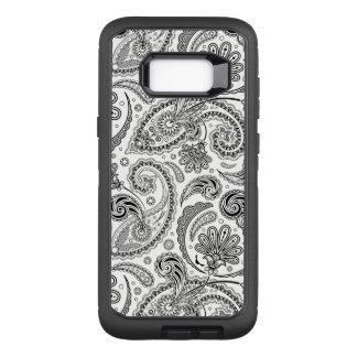 Coque Samsung Galaxy S8+ Par OtterBox Defender Motif tribal noir et blanc Girly de Paisley