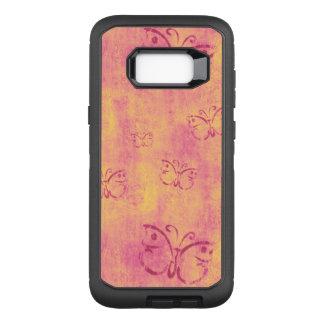 Coque Samsung Galaxy S8+ Par OtterBox Defender Papillons pourpres vintages sur le rose