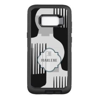 Coque Samsung Galaxy S8+ Par OtterBox Defender Peigne Afro noir et blanc de monogramme